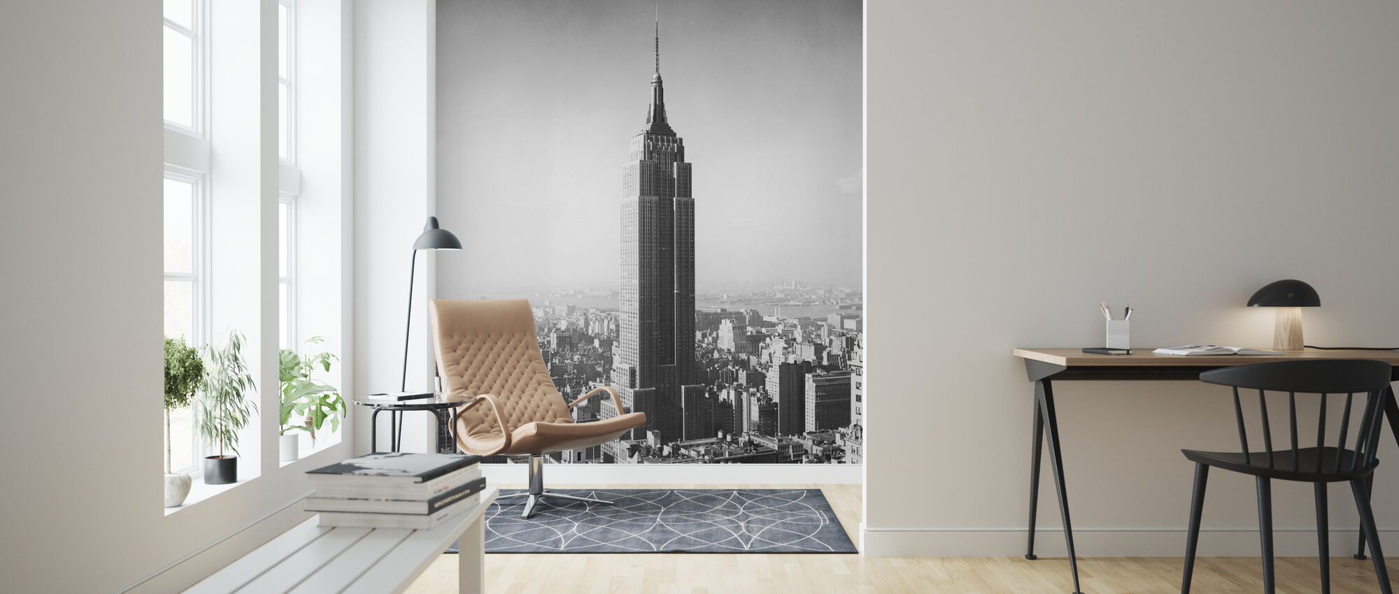1955 The Empire State Building - Wallpaper - Living Room