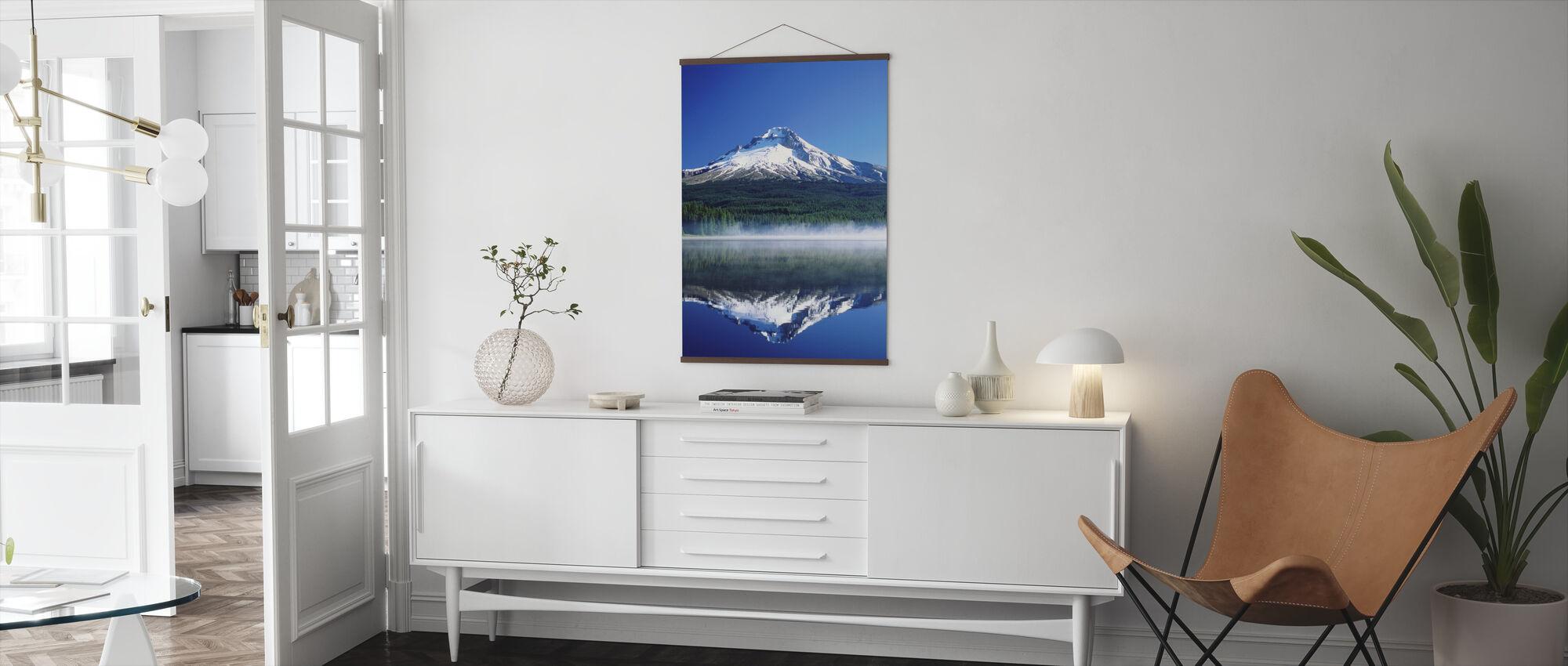 Trillium Lake in Oregon - Poster - Woonkamer