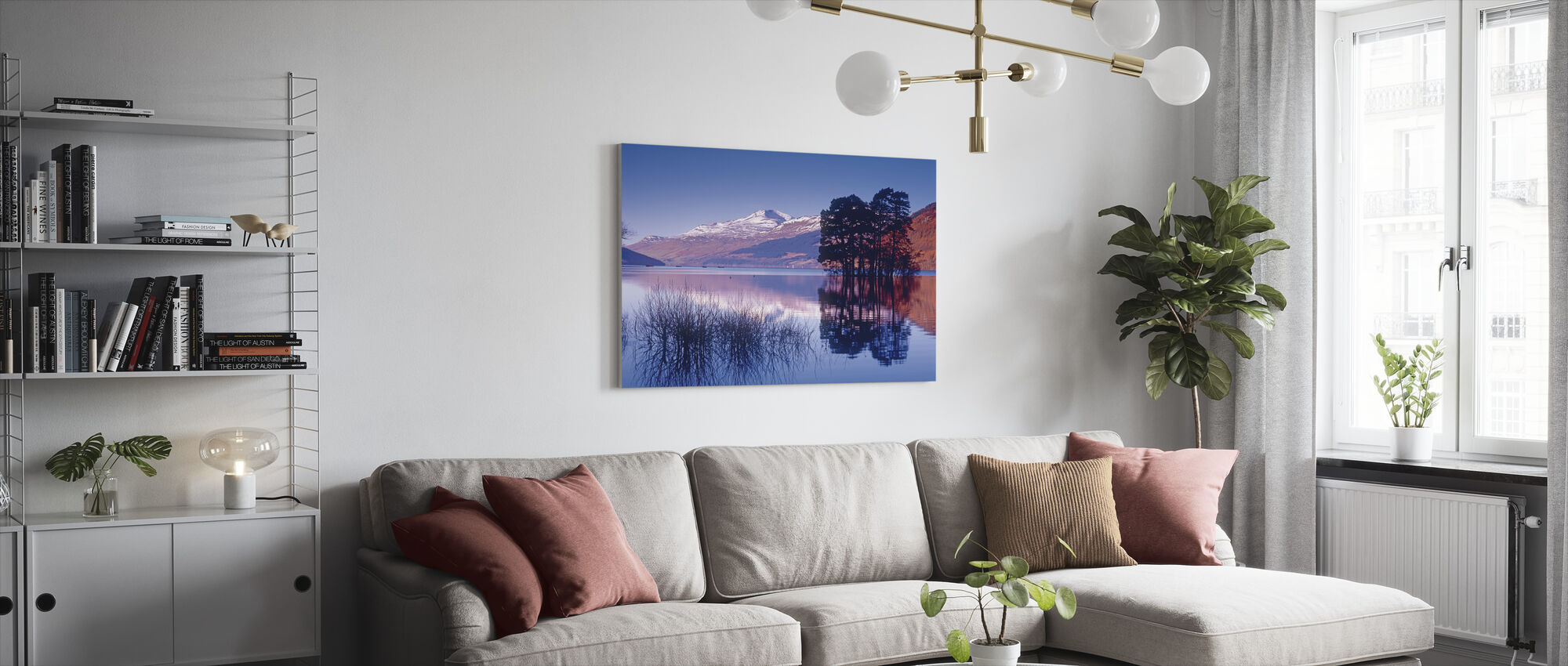 Loch Tay of Kenmore, Scotland - Canvas print - Living Room