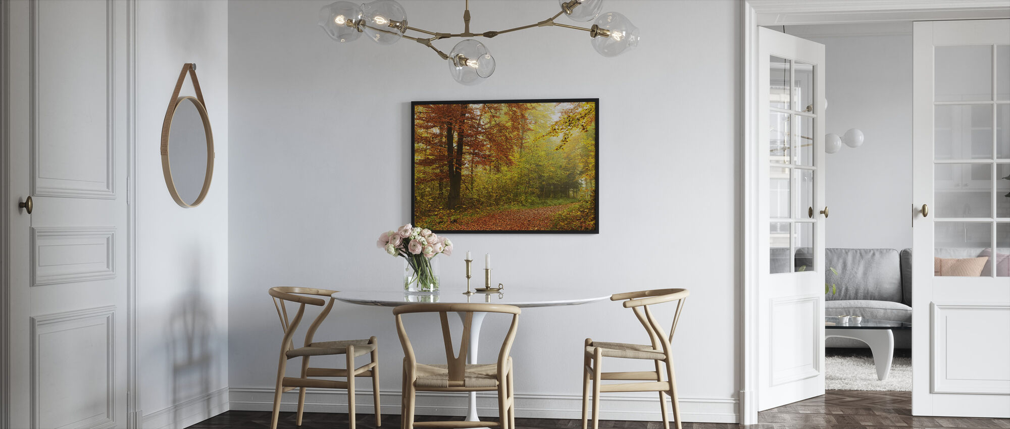 Peaceful Fall Path - Framed print - Kitchen