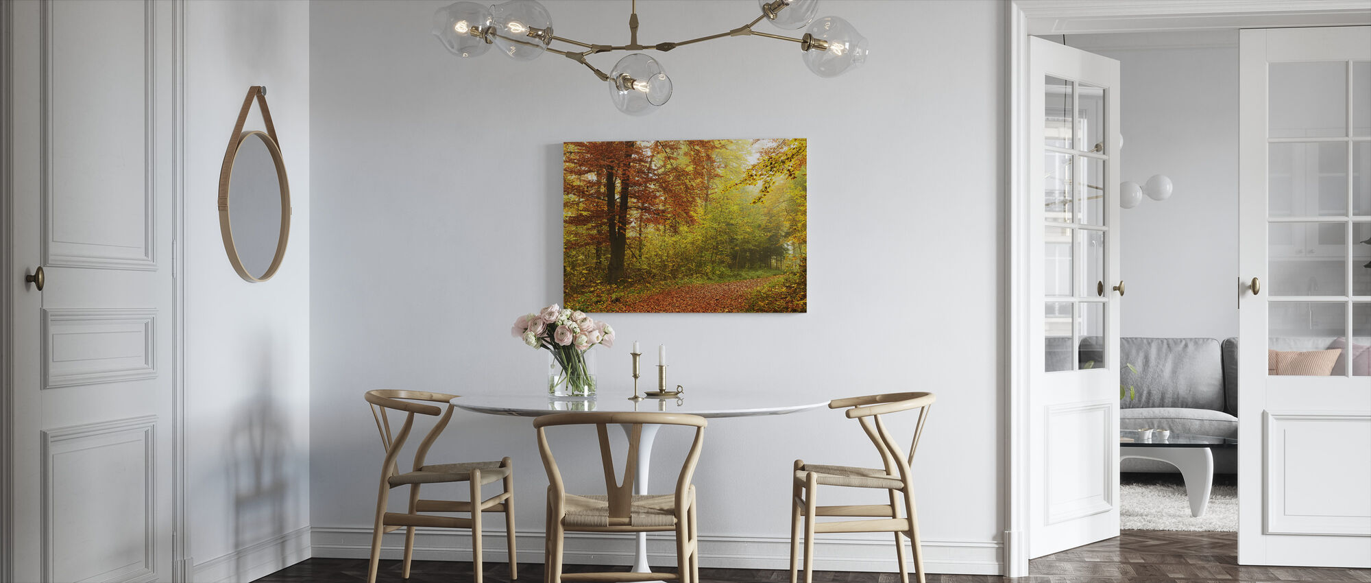 Peaceful Fall Path - Canvas print - Kitchen