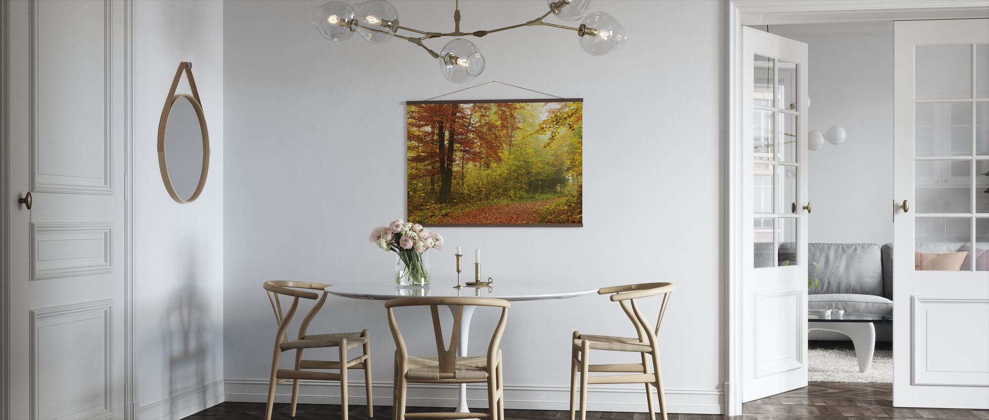 Peaceful Fall Path - Poster - Kitchen