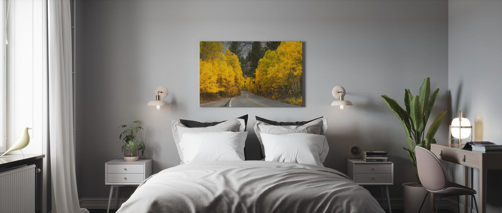 Østlige Sierra efterår landskab - Billede på lærred - Soveværelse
