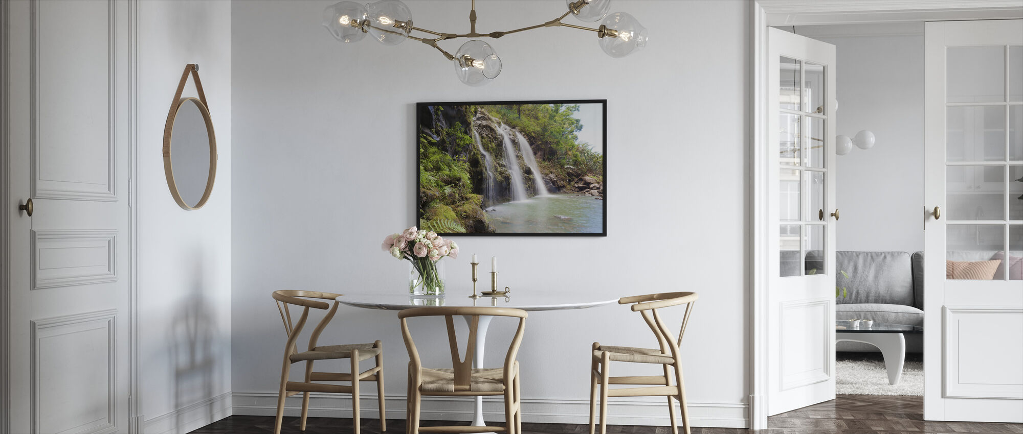 Triple Waterfalls - Framed print - Kitchen