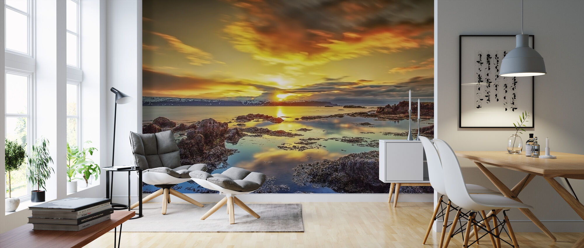 Scenery of West Iceland - Wallpaper - Living Room