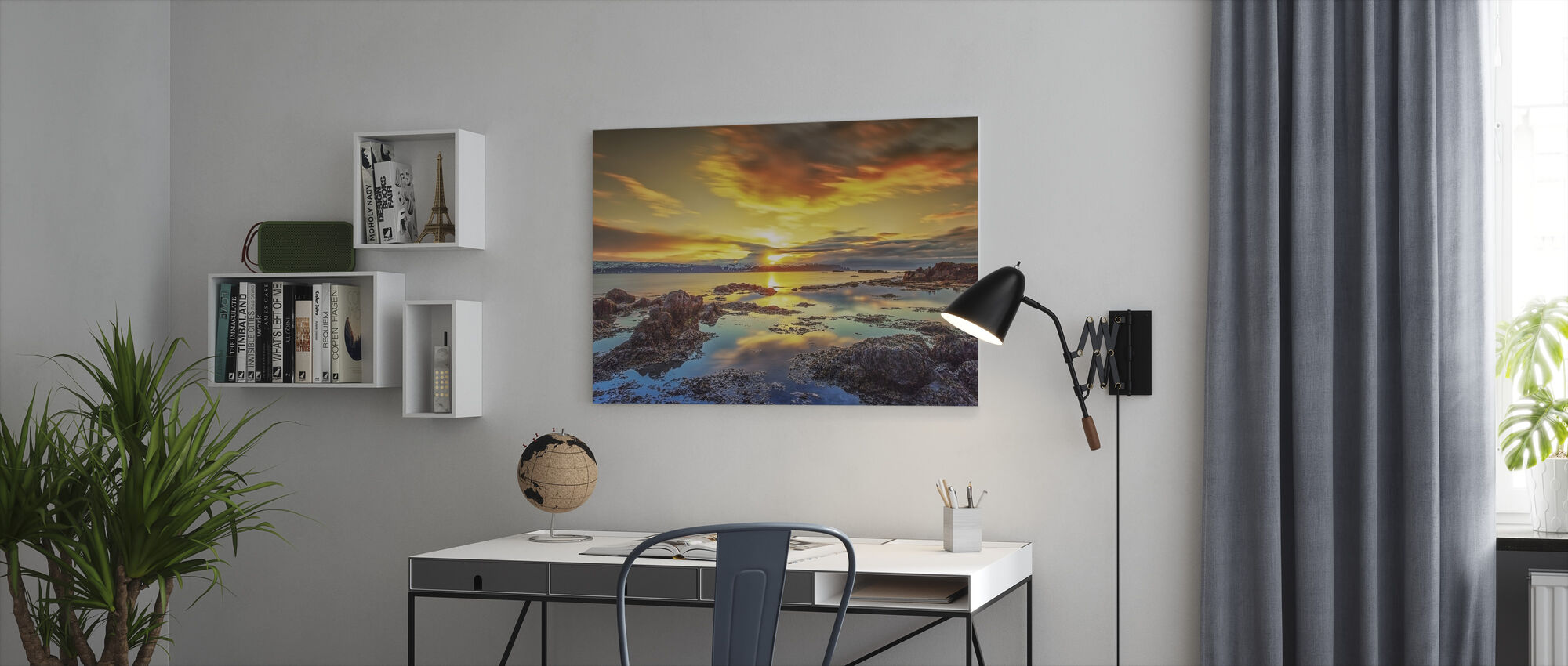 Scenery of West Iceland - Canvas print - Office