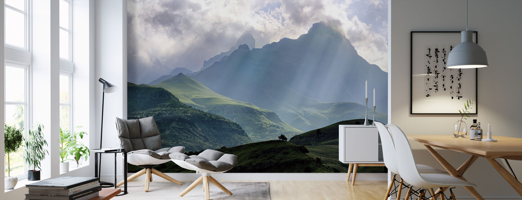 Mnweni Rays - Wallpaper - Living Room