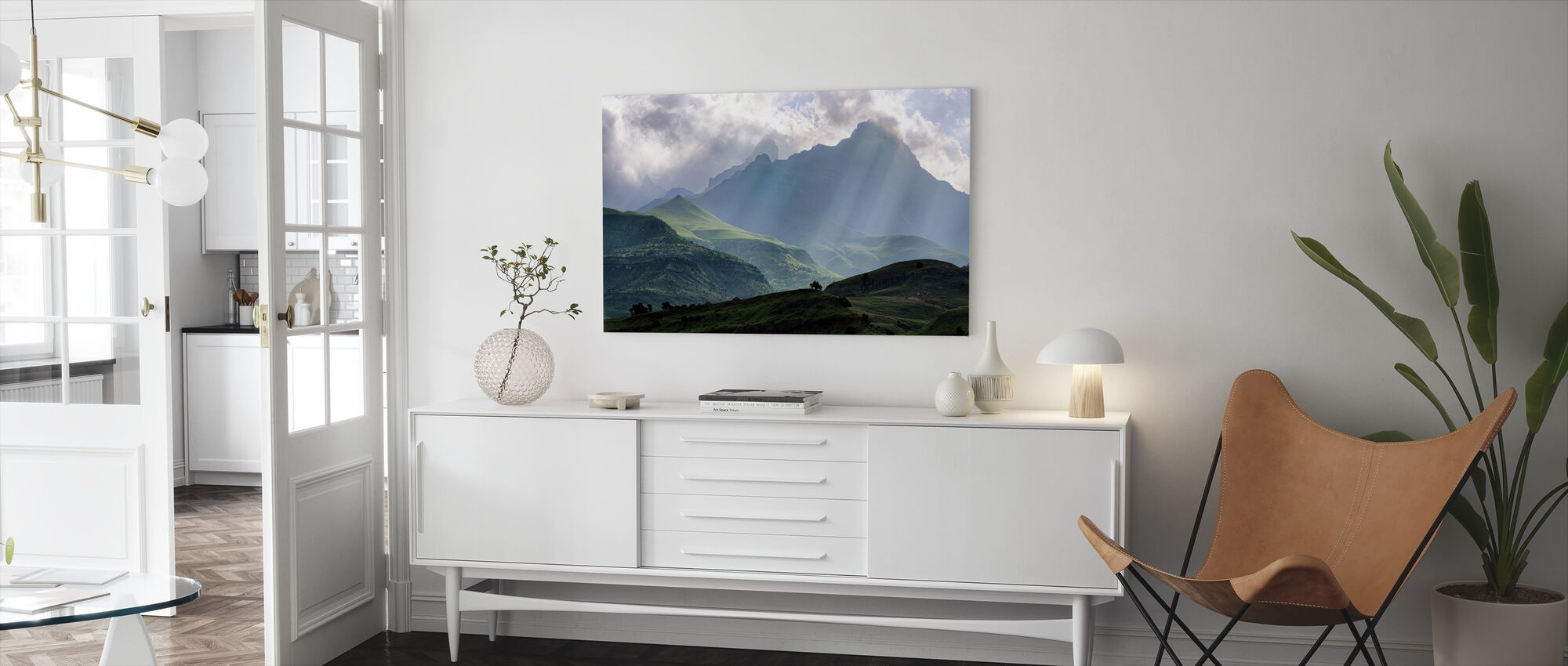 Mnweni Rays - Canvas print - Living Room