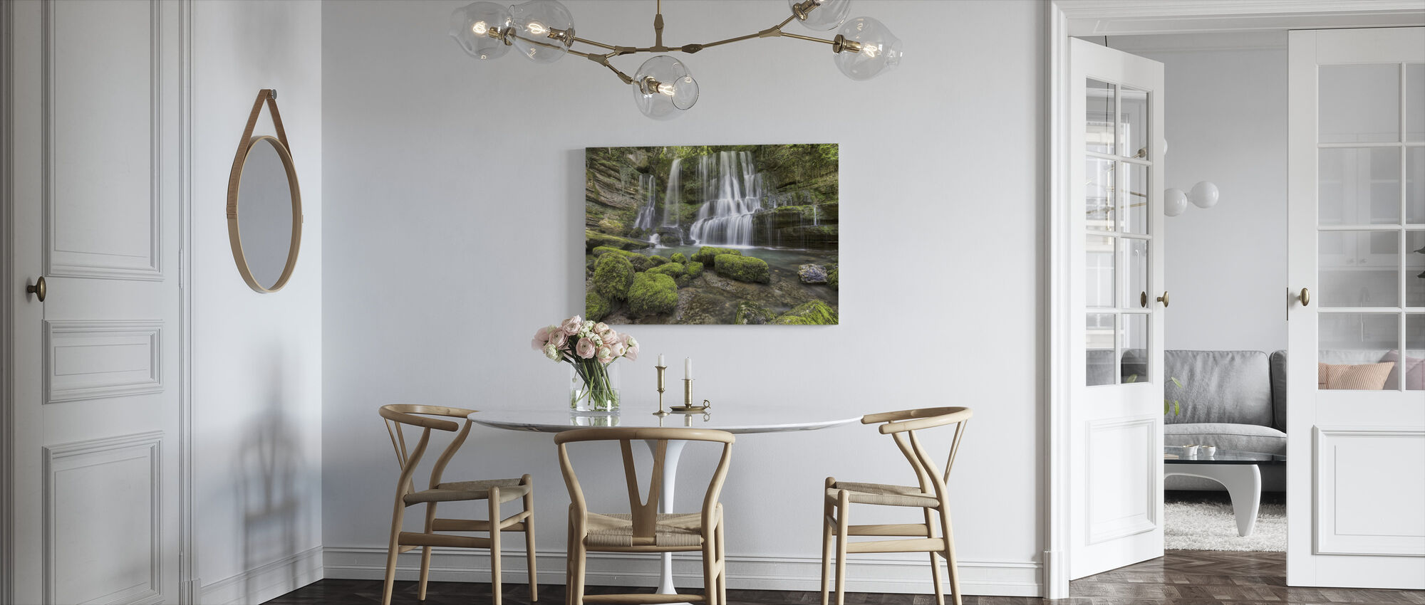 Waterfall of Verneau - Canvas print - Kitchen
