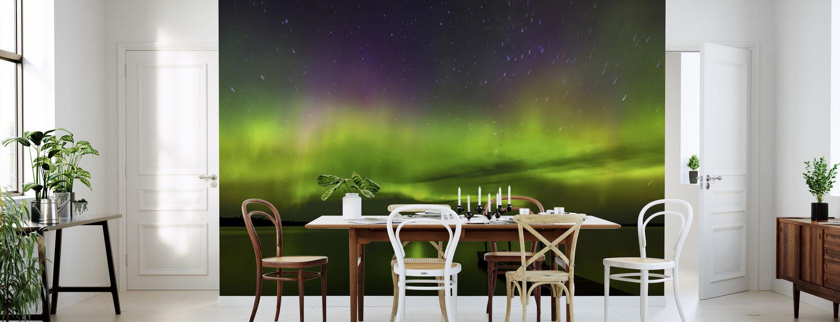 Aurora Borealis yli Burntside järven - Tapetti - Keittiö