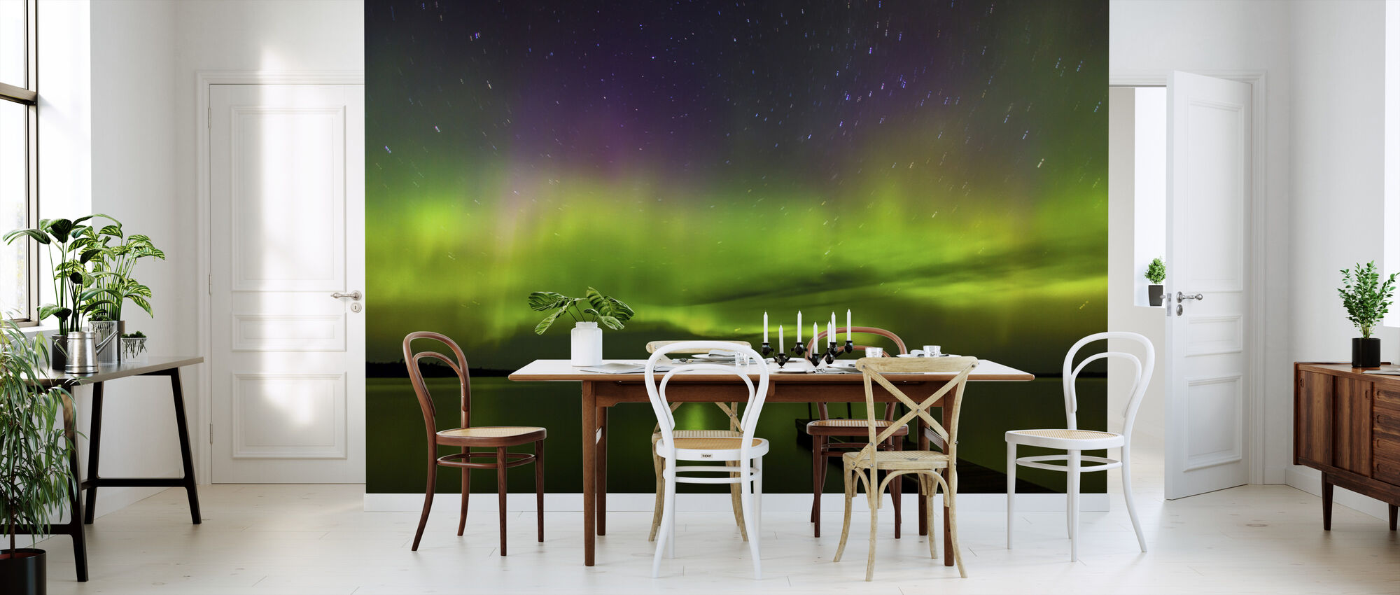 Aurora Borealis over Burntside Lake - Wallpaper - Kitchen