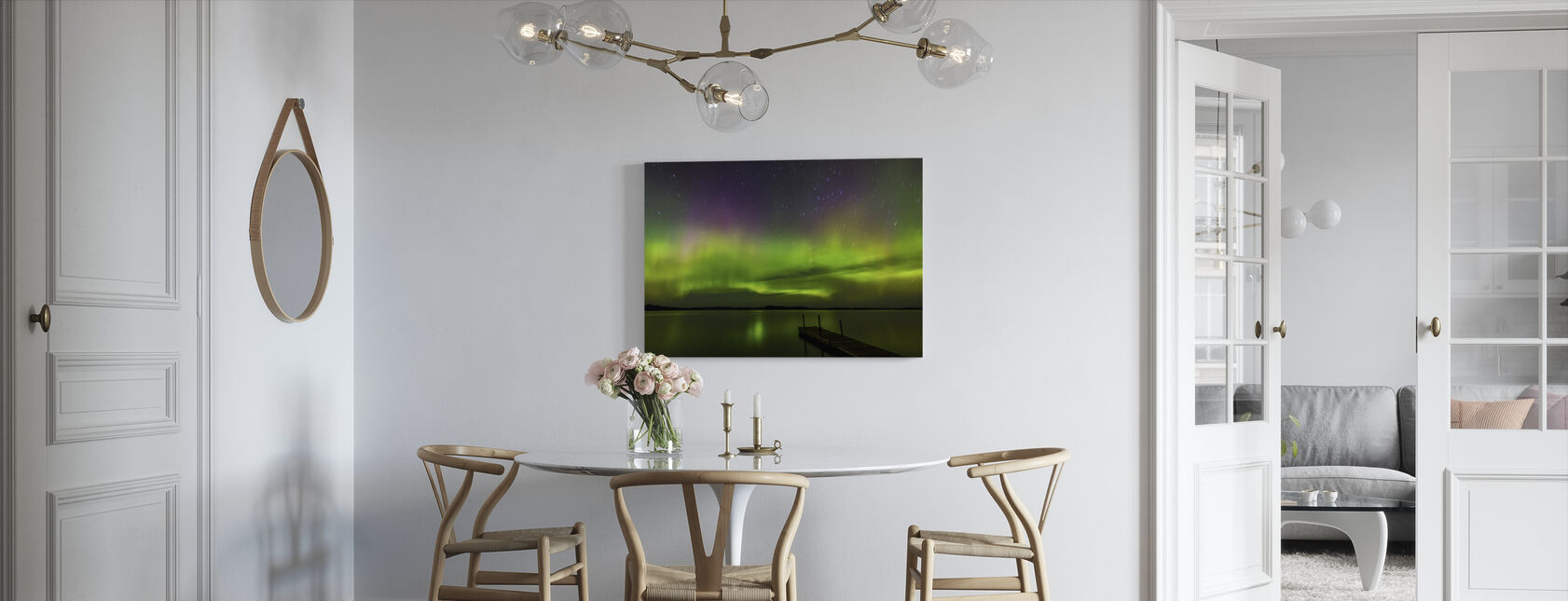 Aurora Borealis over Burntside Lake - Canvas print - Kitchen