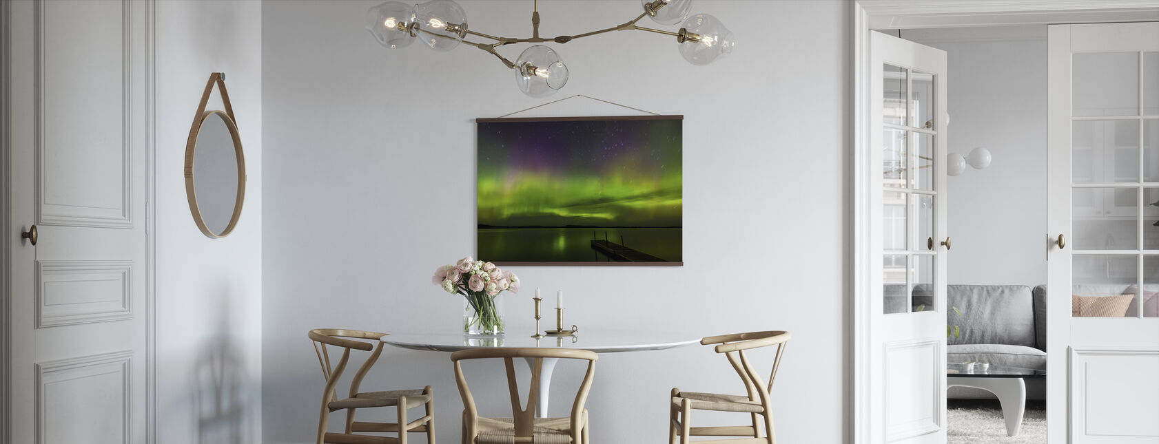 Aurora Borealis over Burntside Lake - Poster - Kitchen