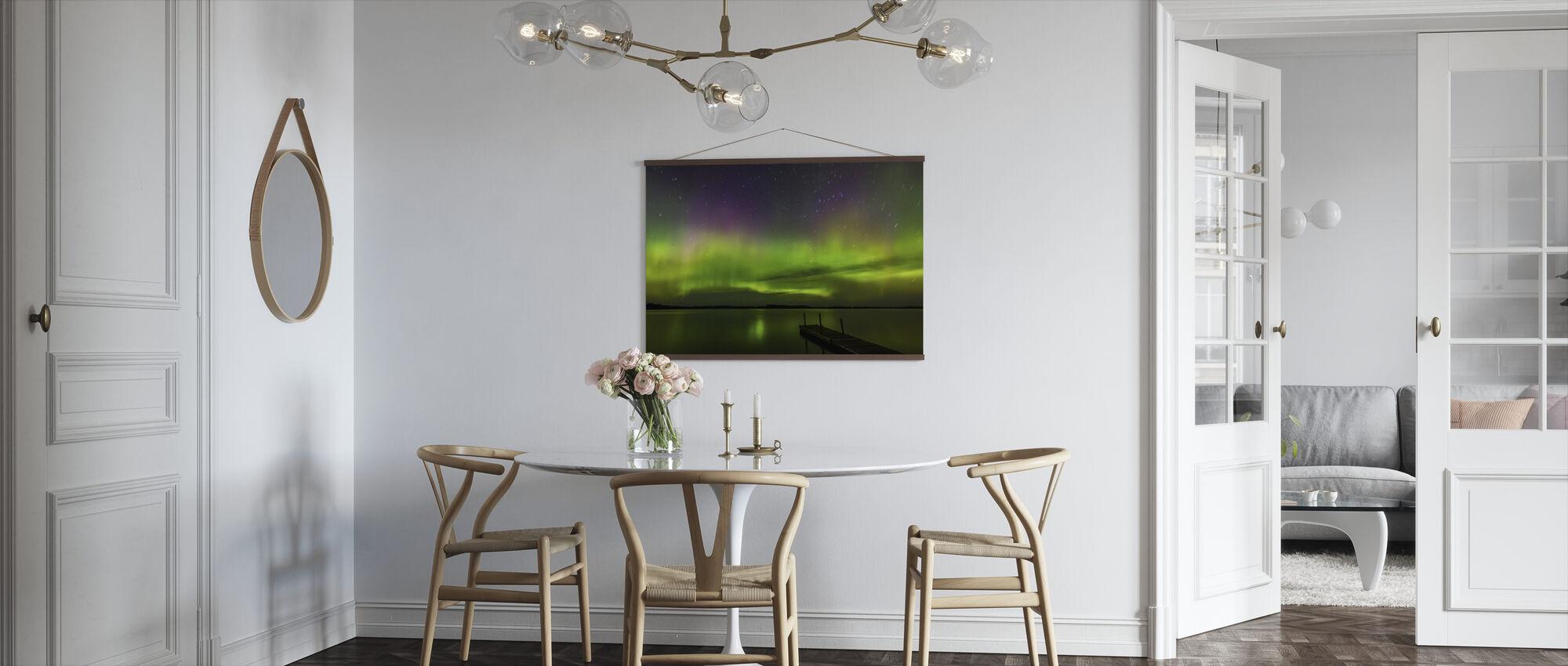 Aurora Borealis über Burntside Lake - Poster - Küchen