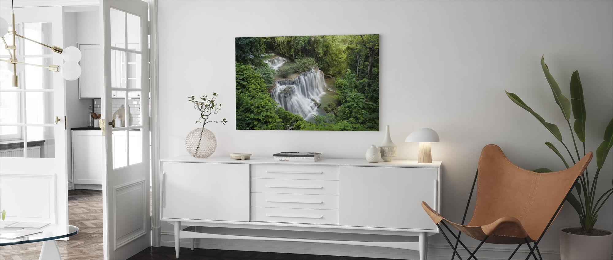 Huay Mae Khamin waterval - Canvas print - Woonkamer