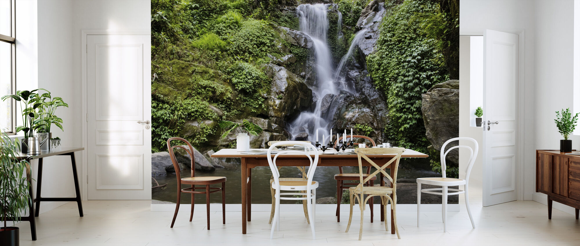 Waterfall and Forest Pool - Wallpaper - Kitchen