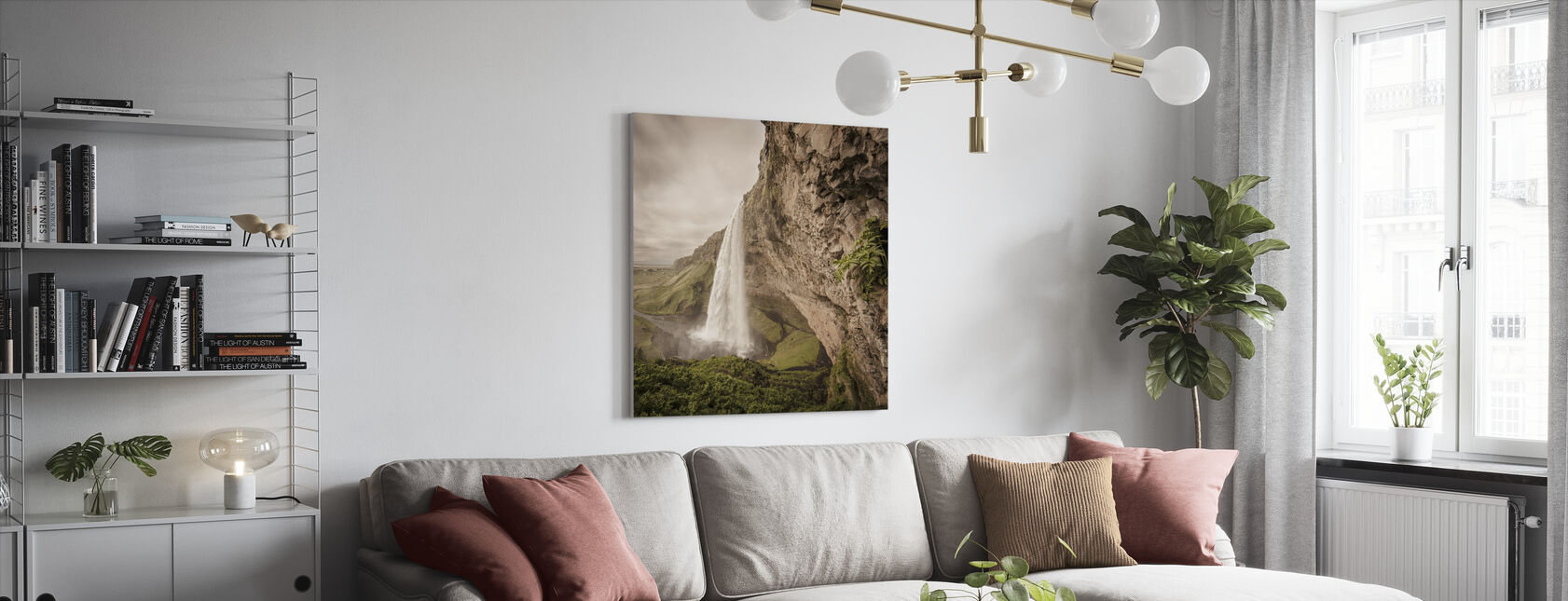 The Power of Seljalandsfoss - Canvas print - Living Room