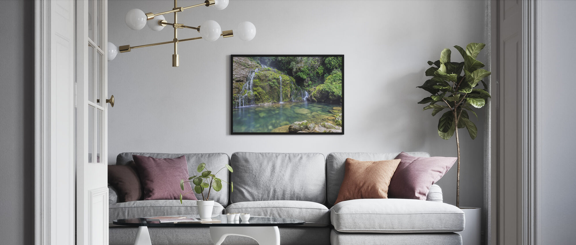 Water from the Mountain - Framed print - Living Room