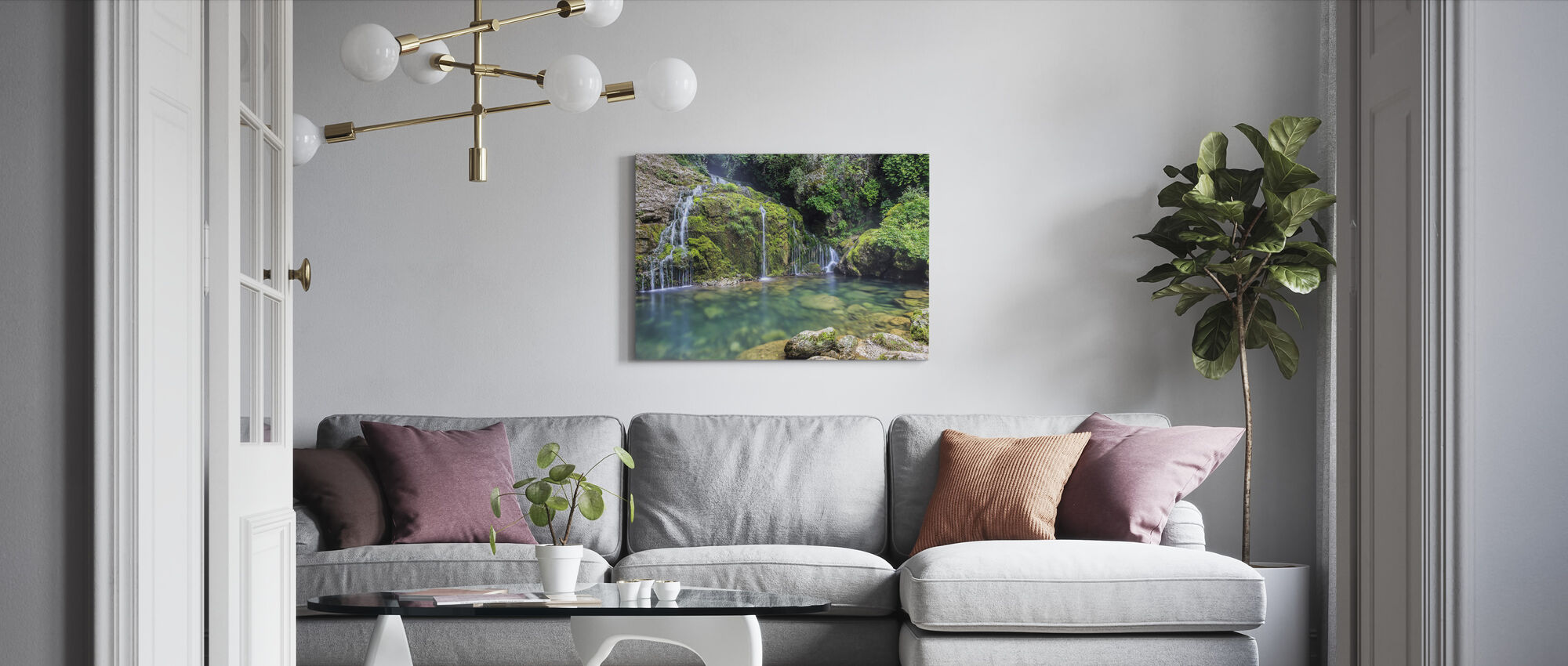 Water from the Mountain - Canvas print - Living Room