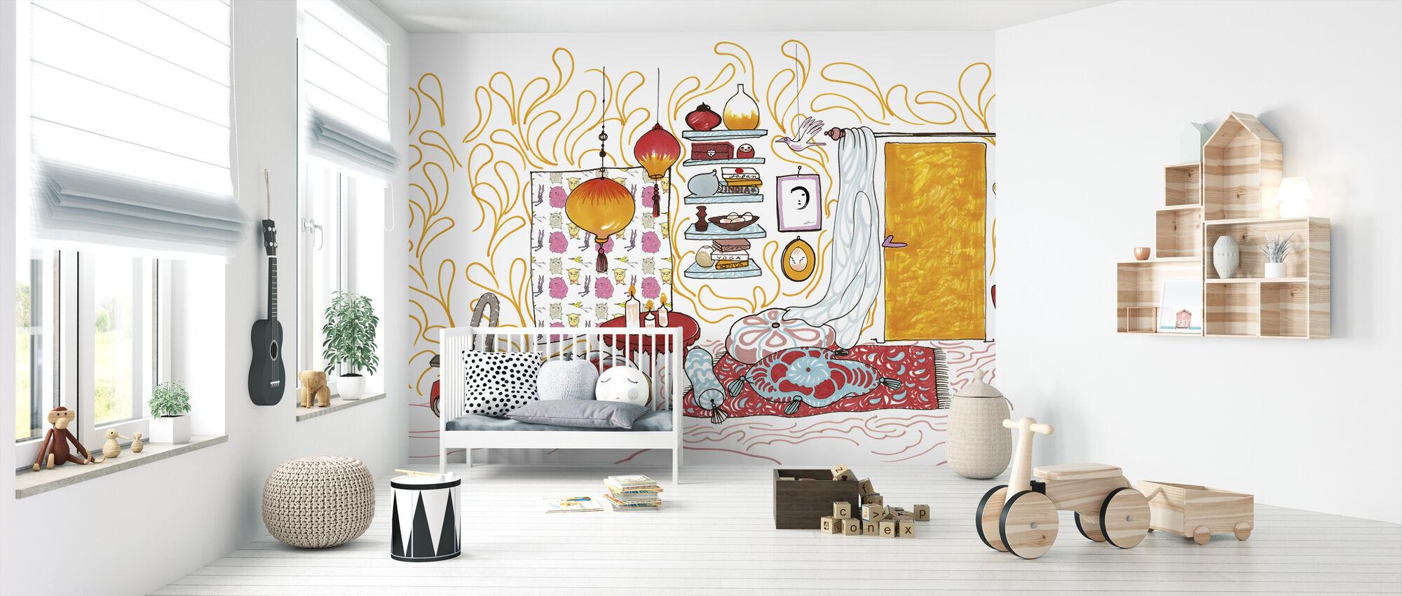 Bird House - Wallpaper - Nursery