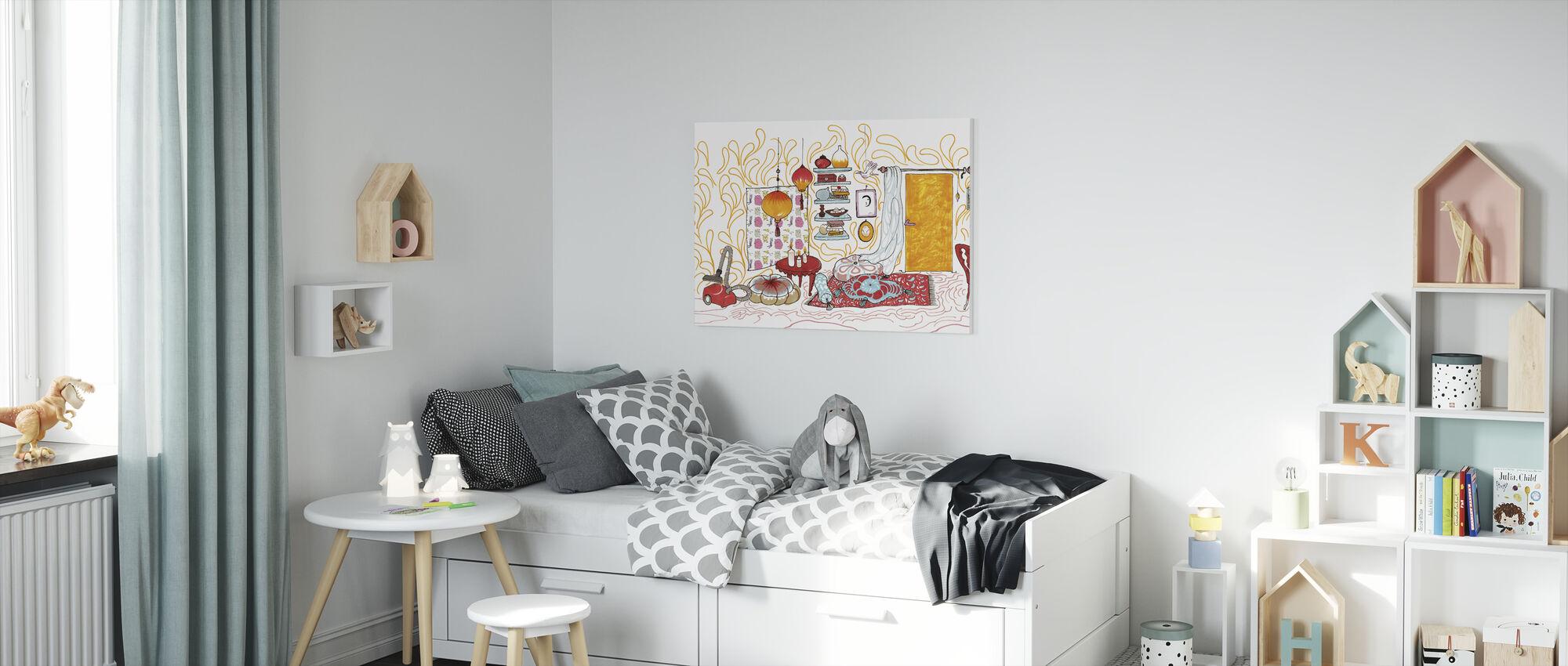 Bird House - Canvas print - Kids Room