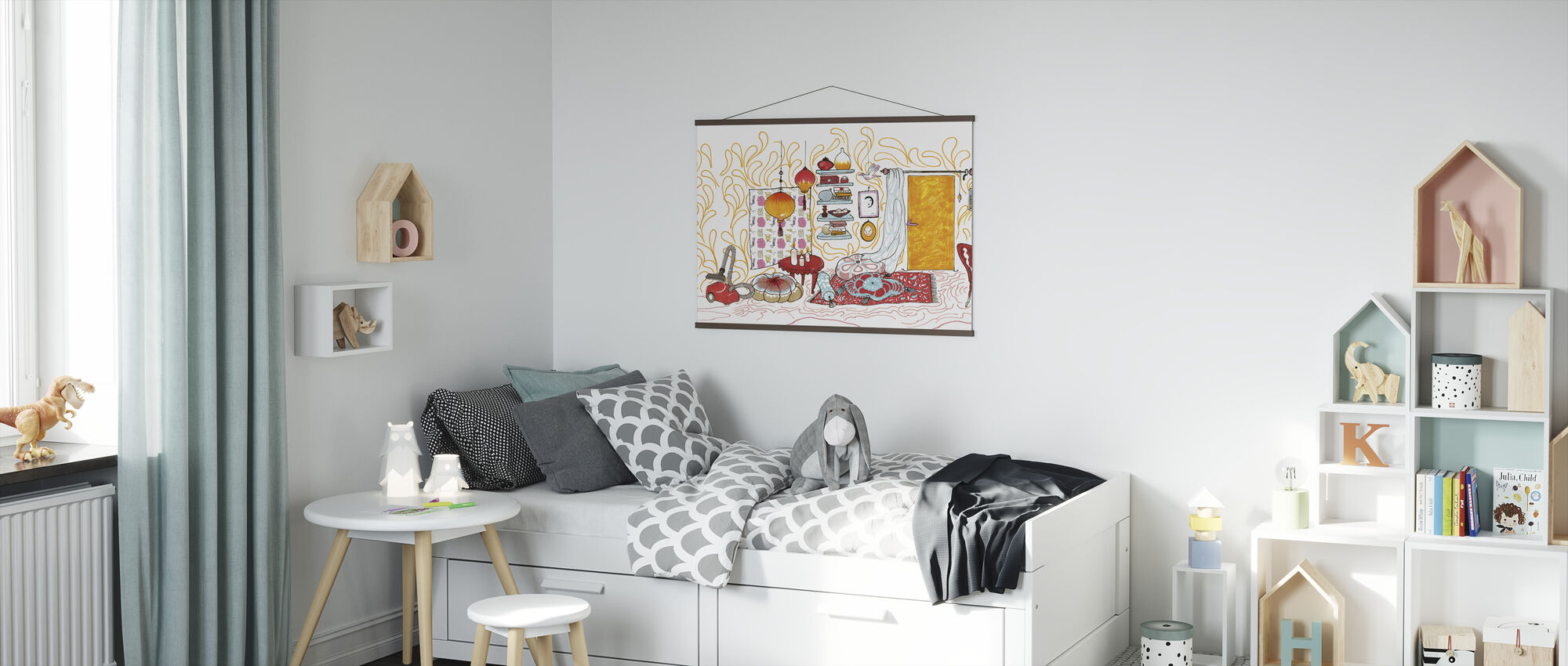 Vogel Huis - Poster - Kinderkamer