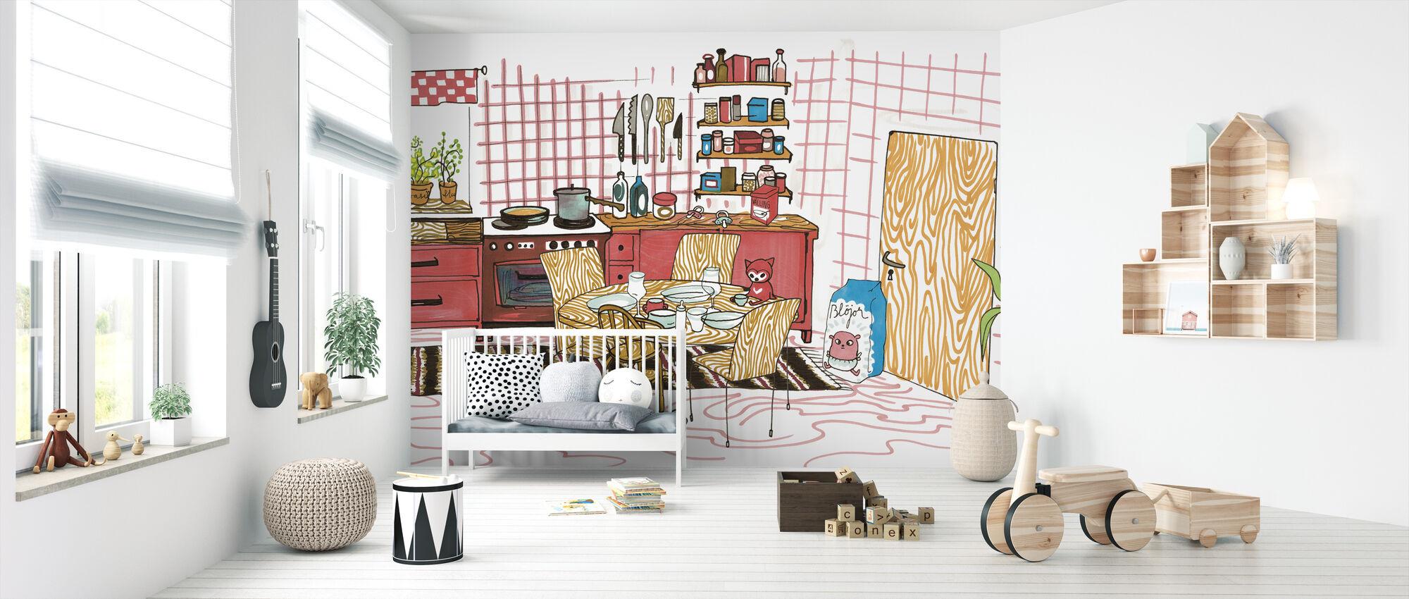 Cat's house - Wallpaper - Nursery