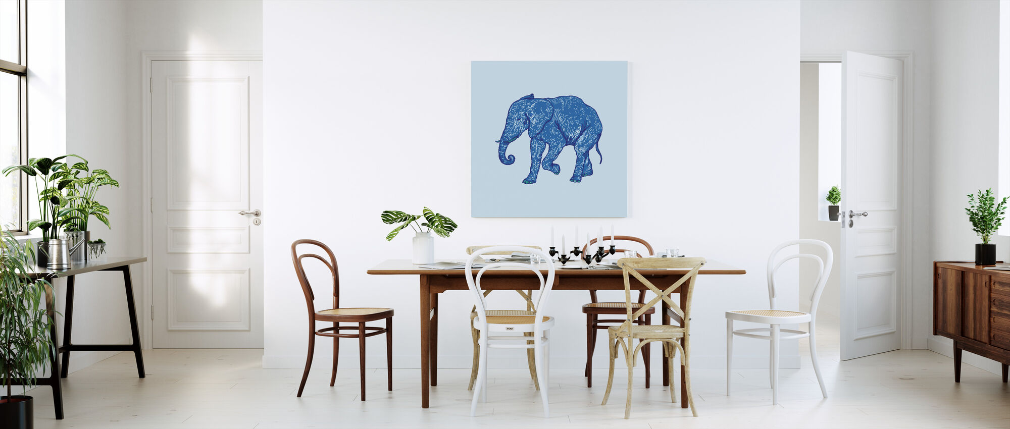 Elephant Blues - Canvas print - Kitchen
