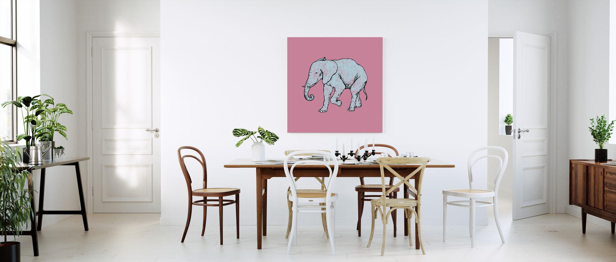 Elephant Bubblegum - Canvas print - Kitchen