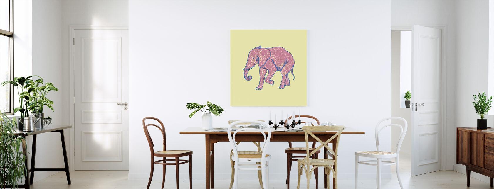 Elephant Happy - Canvas print - Kitchen