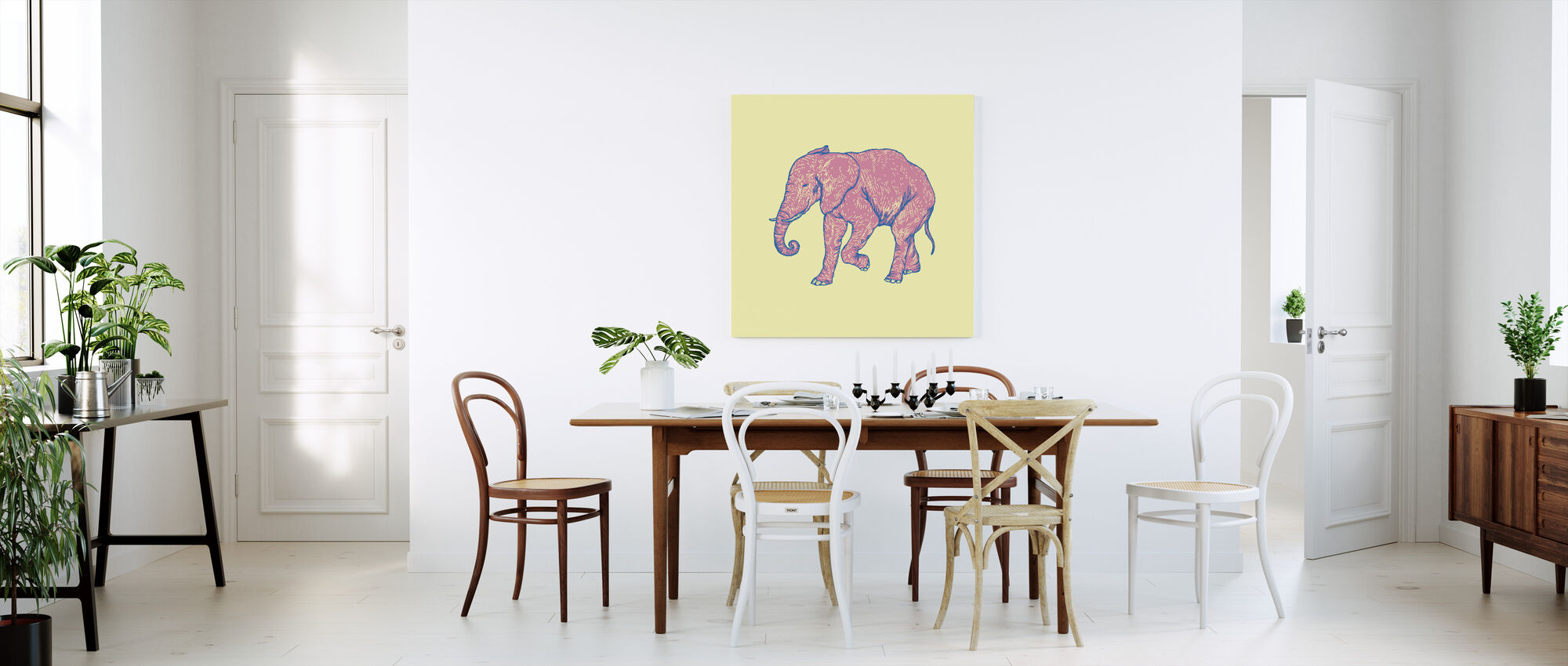 Olifant Gelukkig - Canvas print - Keuken