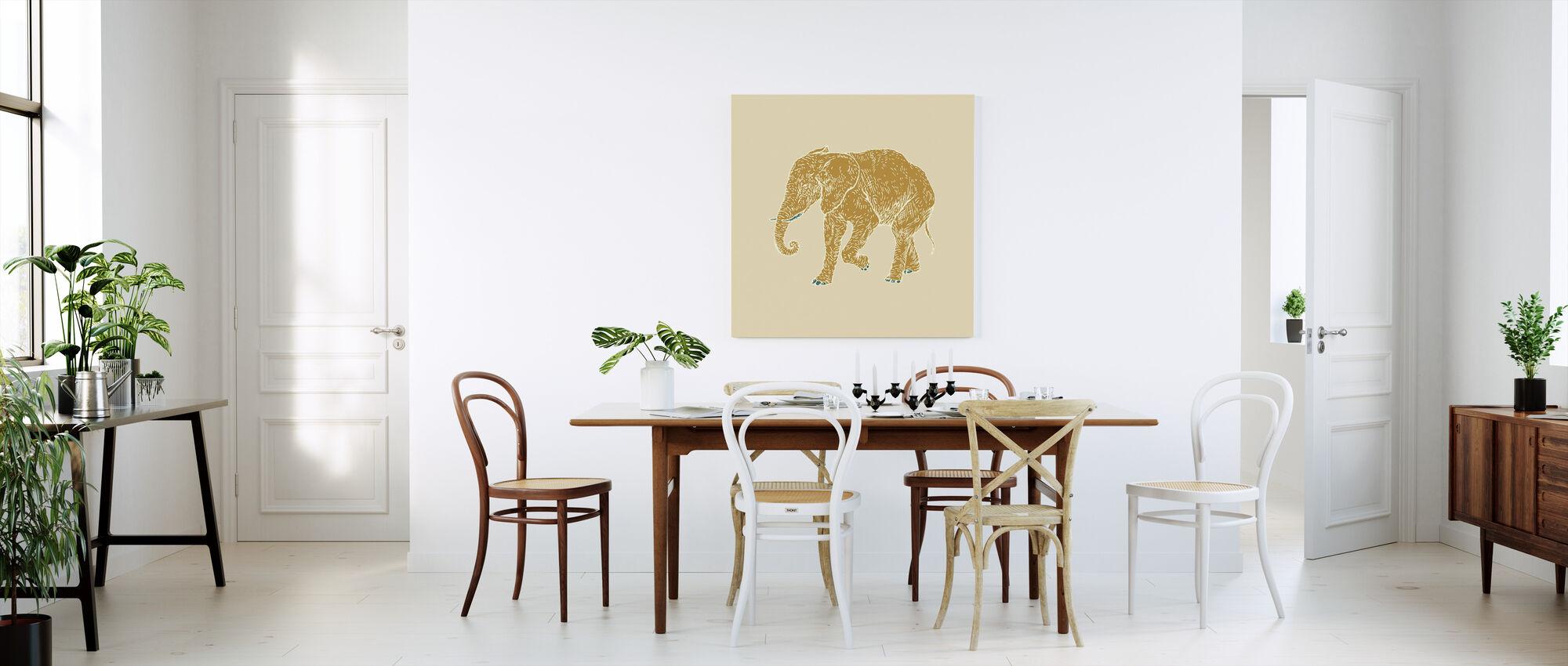 Olifant Ochtend - Canvas print - Keuken