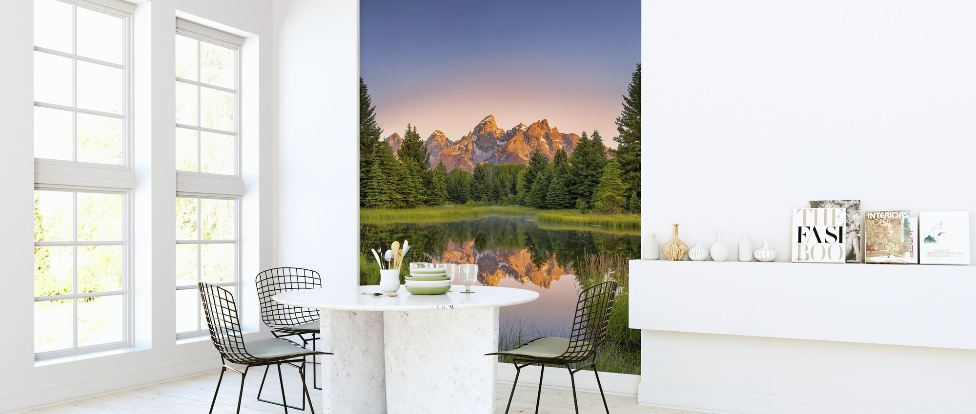Dawn at Schwabacher's Landing - Wallpaper - Kitchen