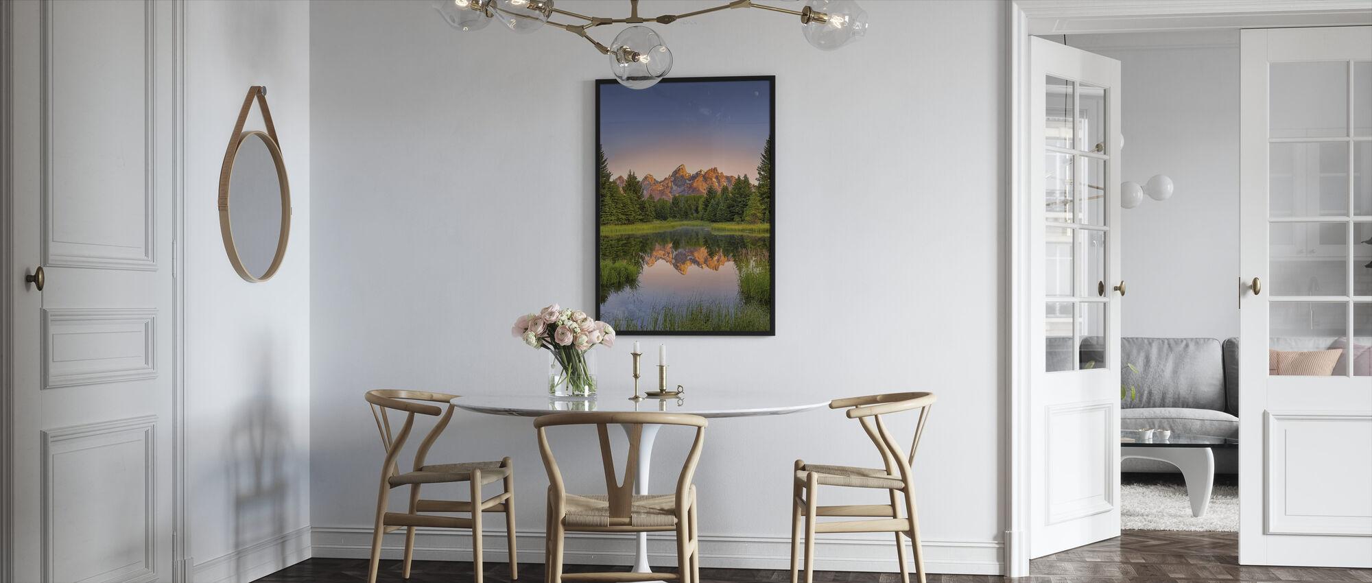 Dawn at Schwabacher's Landing - Framed print - Kitchen