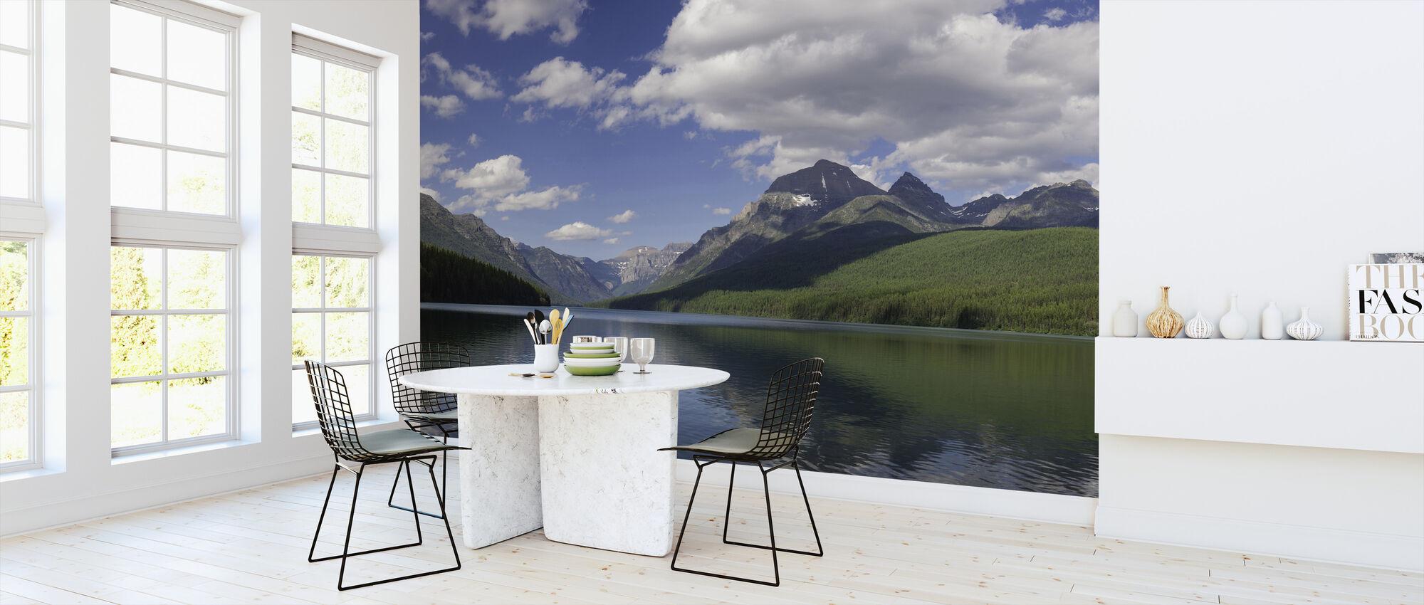 Bowman Lake Panorama - Wallpaper - Kitchen