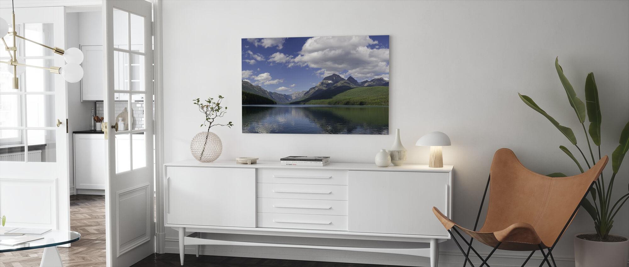 Bowman Lake Panorama - Canvas print - Living Room