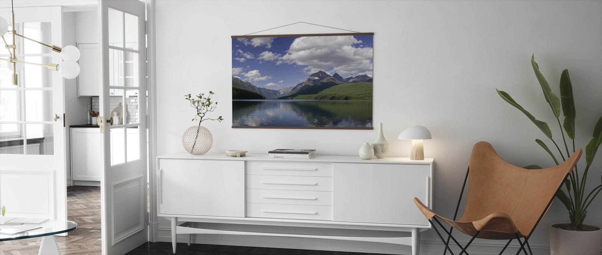 Bowman Lake Panorama - Poster - Living Room