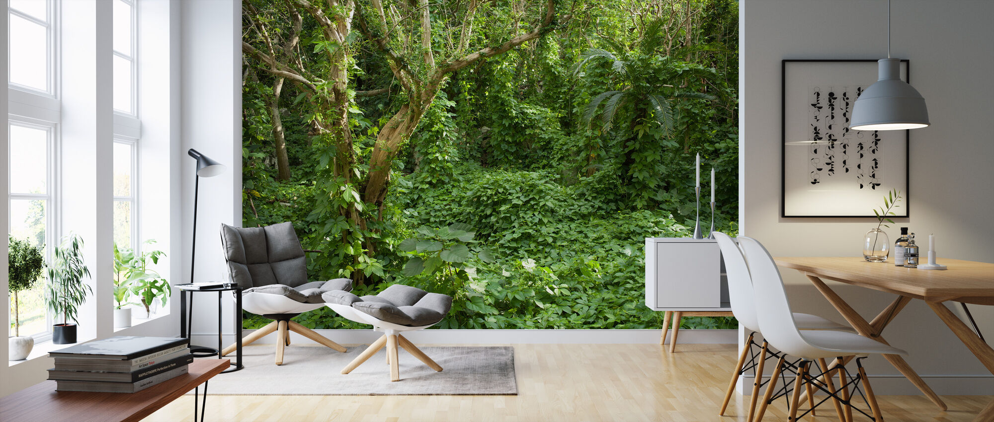 Ancient Ruins Covered by Tropical Jungle - Wallpaper - Living Room