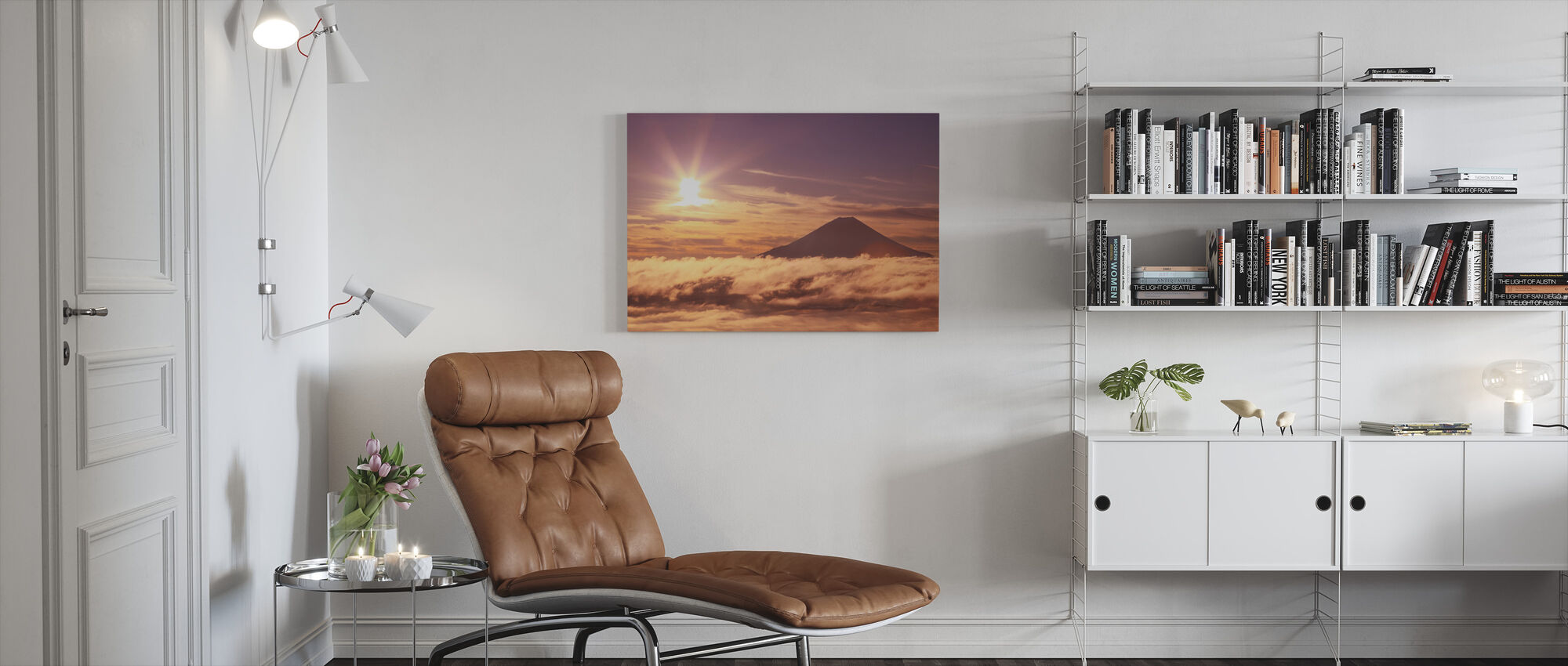 Mount Fuji and Sea of Clouds - Canvas print - Living Room