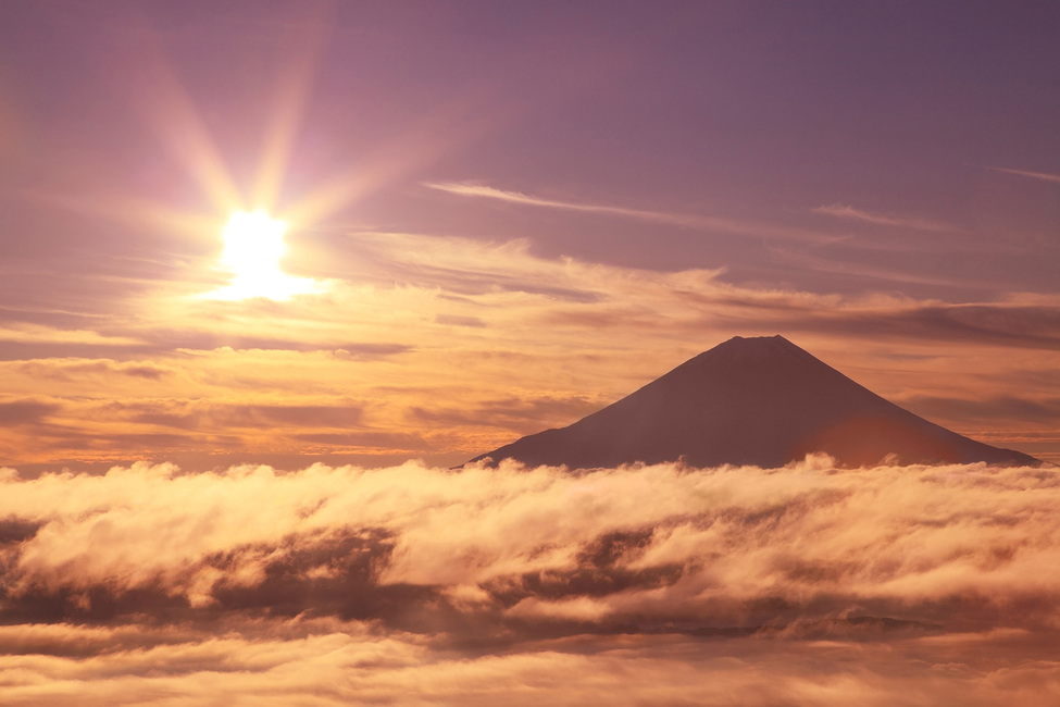 Kuva Mount Fuji and Sea of Clouds Tapetit / tapetti 100 x 100 cm