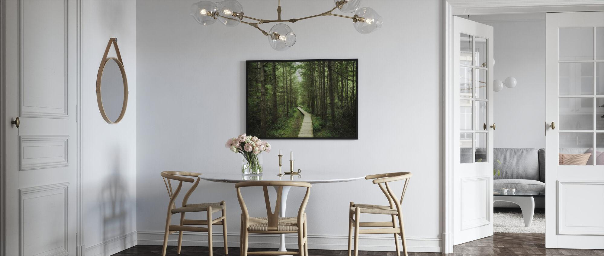 Footbridge into Vancouver Island - Framed print - Kitchen