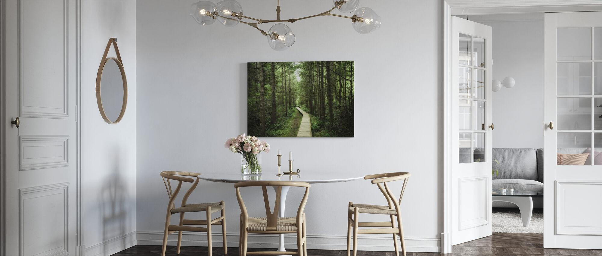Footbridge into Vancouver Island - Canvas print - Kitchen