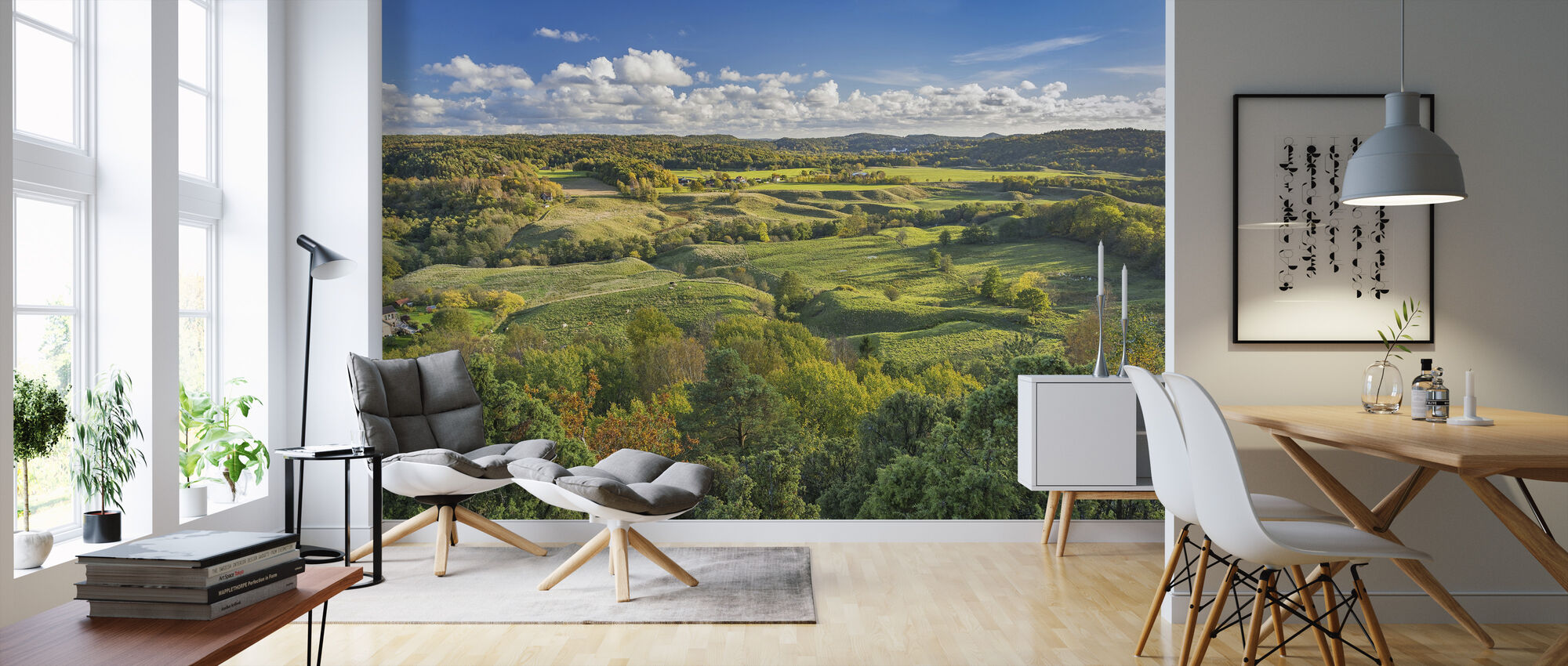 Open Countryside of Sweden - Wallpaper - Living Room