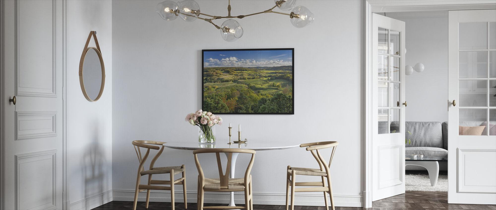 Öppet landsbygd i Sverige - Inramad tavla - Kök