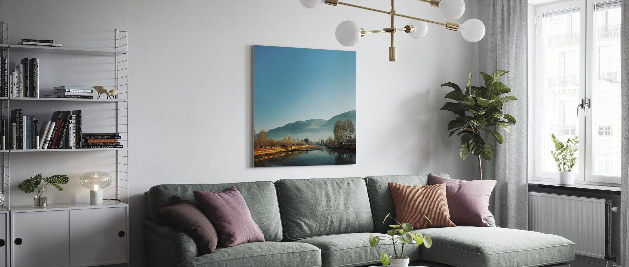 Almost Frosty Morning - Canvas print - Living Room