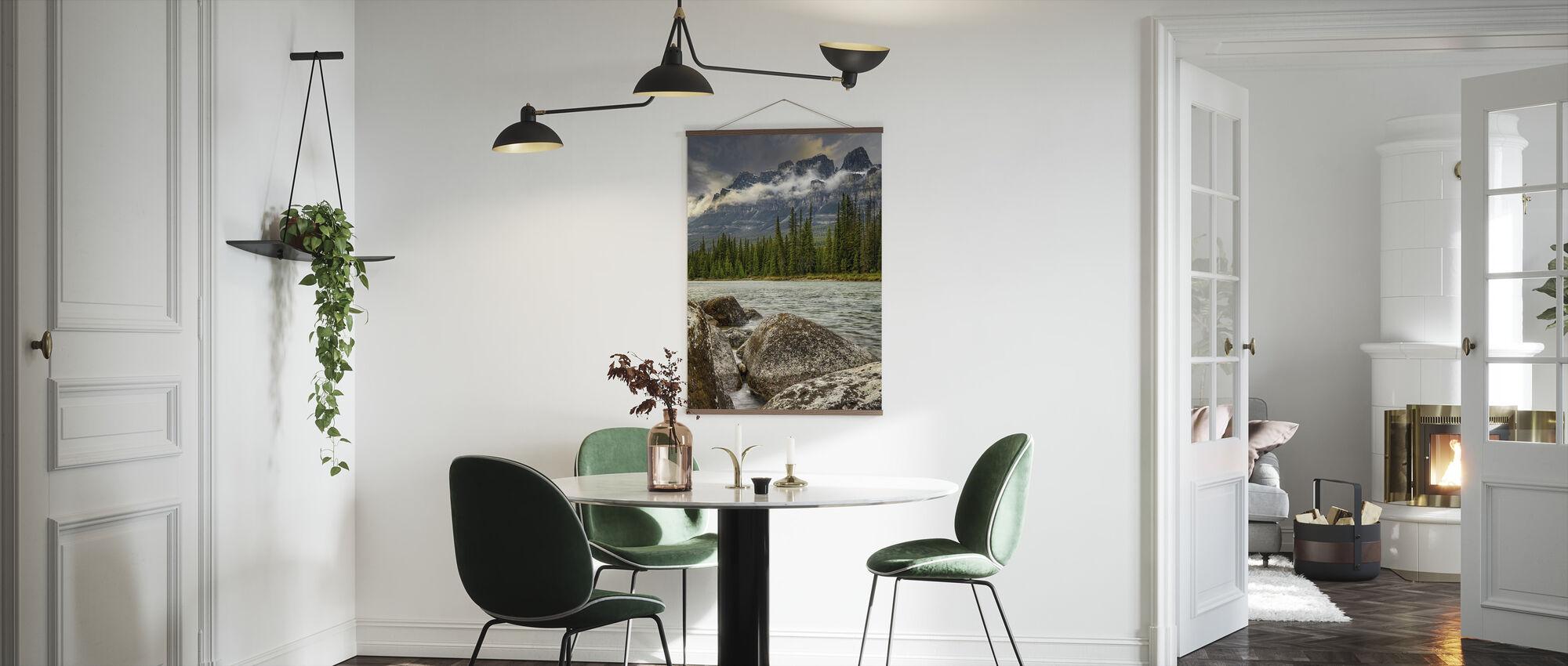 Spring River under Mountain Range - Poster - Kitchen