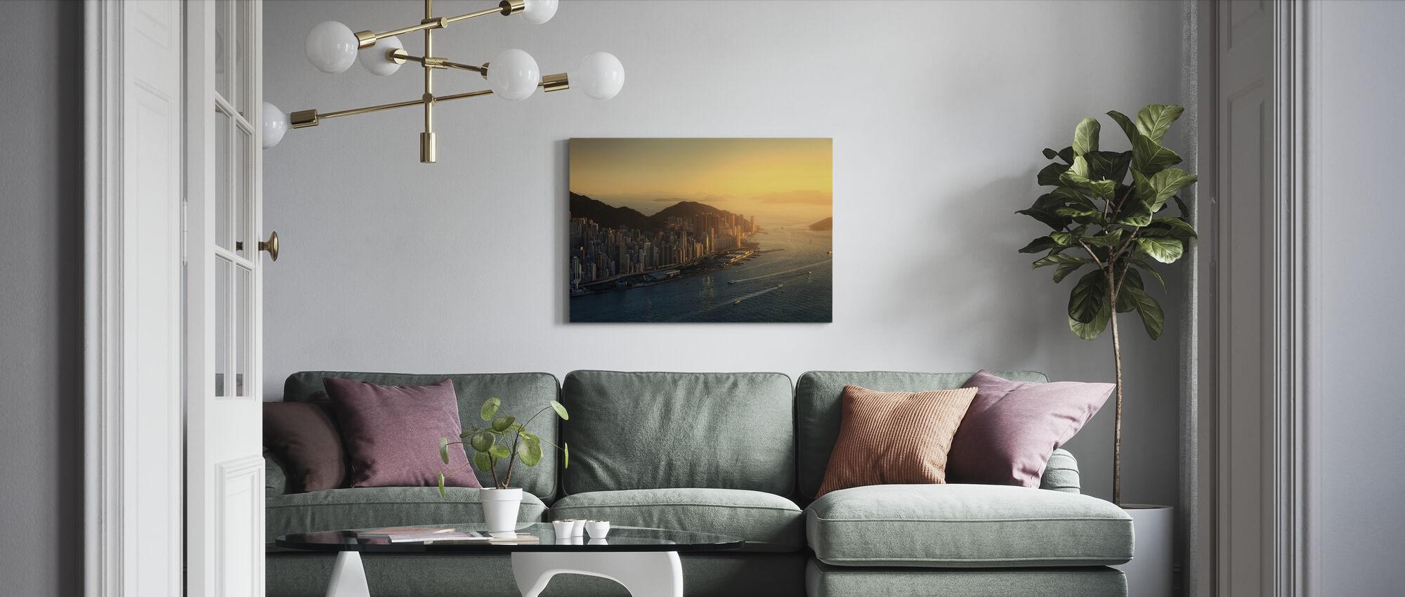 Hong Kong Coastline - Canvas print - Living Room