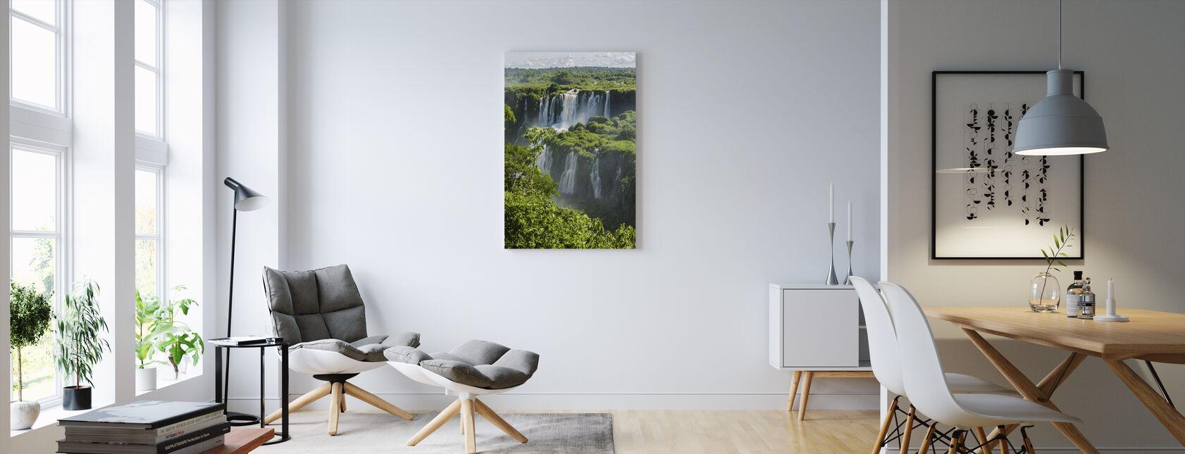 Iguazu vandfald gennem træer - Billede på lærred - Stue