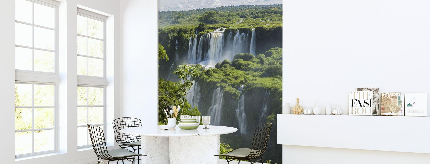 Iguazu Waterfall Through Trees - Wallpaper - Kitchen