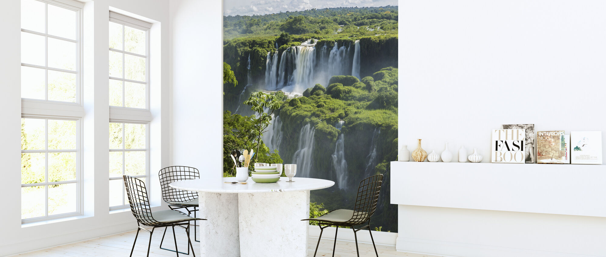 Iguazu Waterfall Through Trees - Wallpaper - Kitchen